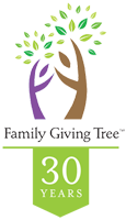 Family Giving Tree 30 year logo